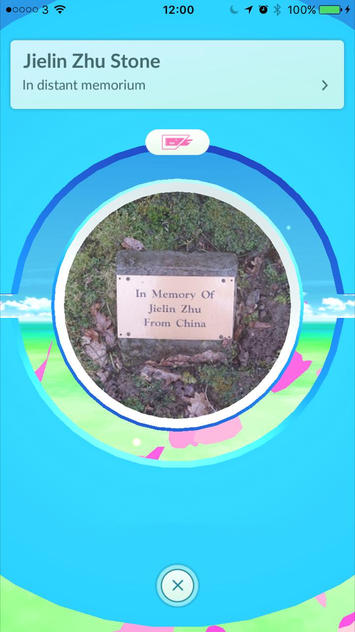 Pokemon GO Pokestop – Jielin Zhu Memorial