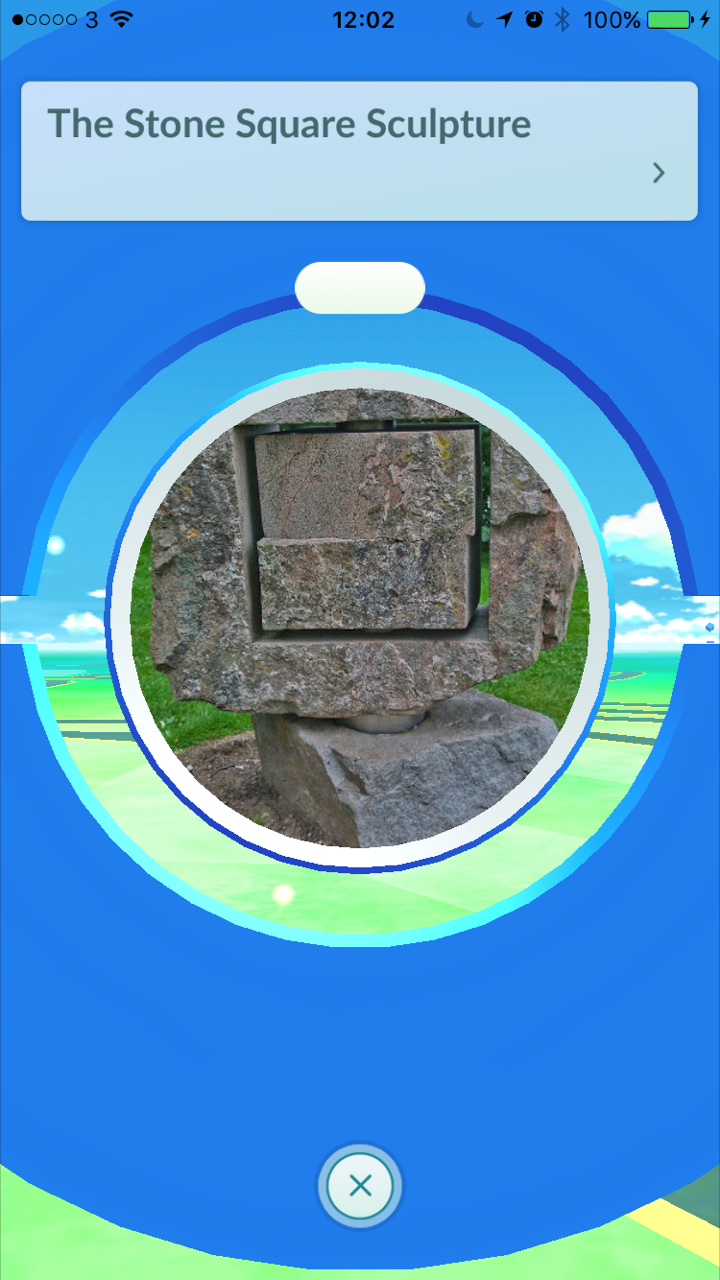 Pokemon GO Pokestop – Stone Square Sculpture