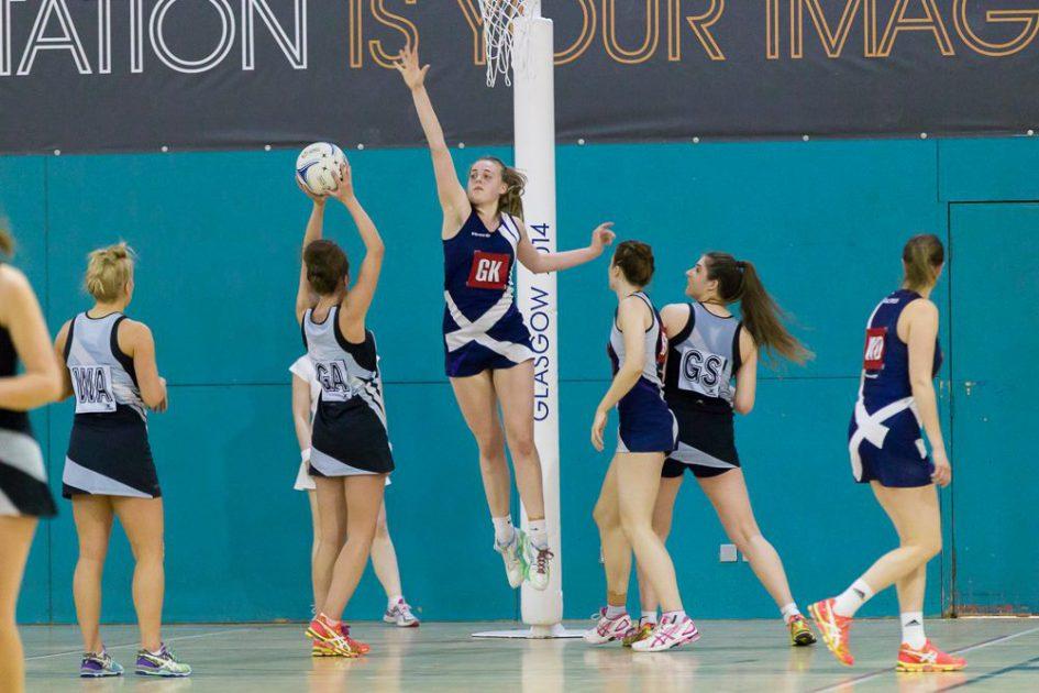 Lauren Tait of Stirling University playing netball