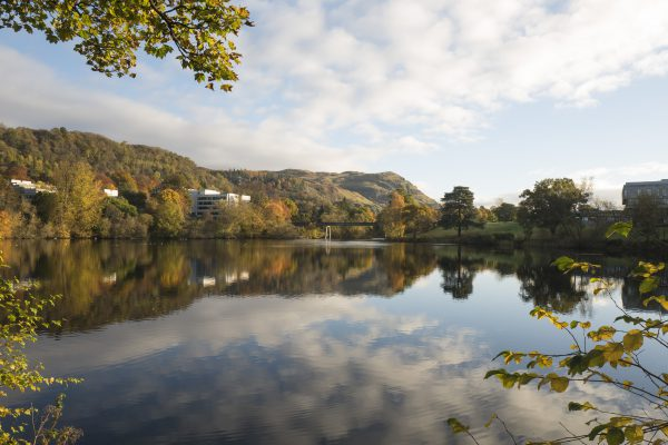 Airthrey loch at the University of Stirling in Autumn 2016