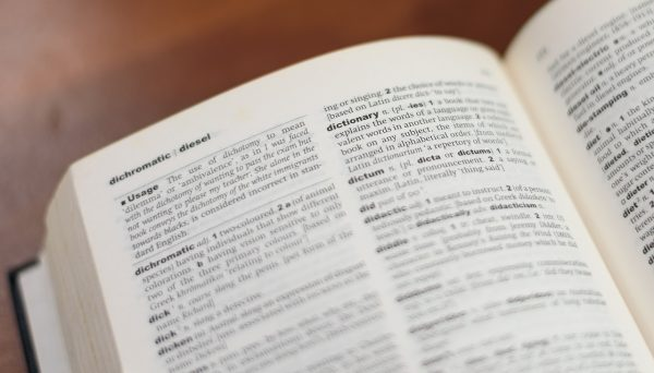 A dictionary, which is good for clearing up any misconceptions.