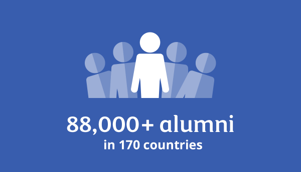 88,000+ alumni in 170 countries