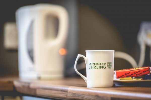 University of Stirling mug and kettle