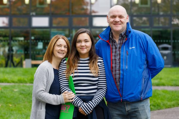 Family visiting the University of Stirling