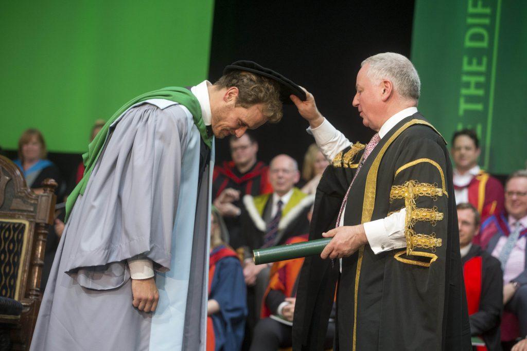 Outlander star Sam Heughan receiving honorary degree